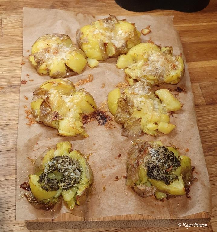 Krossad Potatis från ugnen