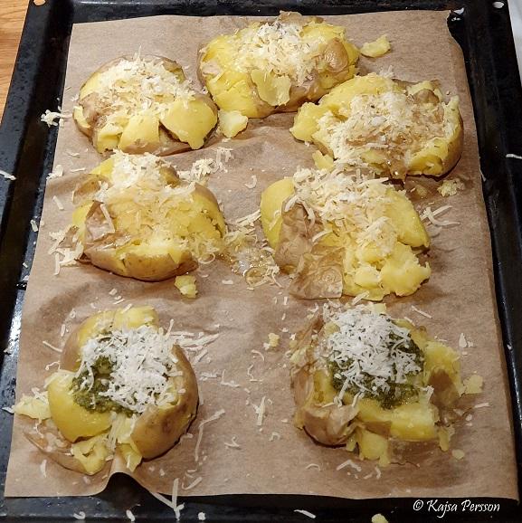 Krossad potatis med topping