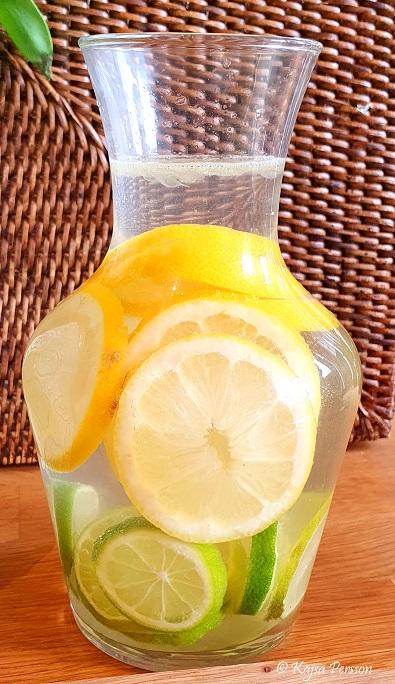 Citron lime vatten