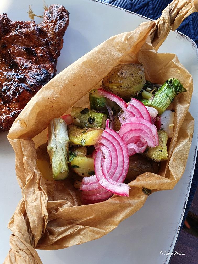 Potatisknyte med picklad lök