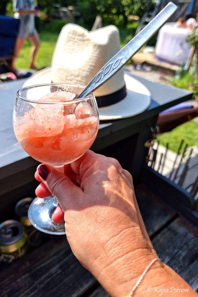 Rosé slush perfekta svalkande sommardrinken.