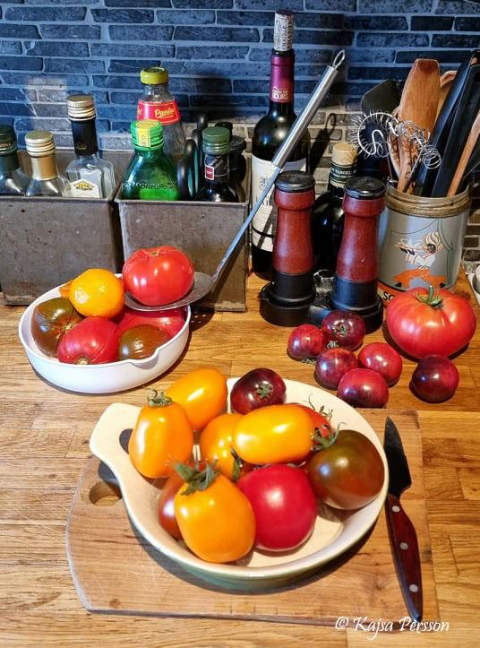 Tomater i alla former och färger