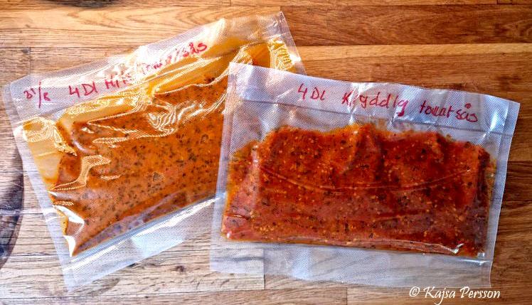 Tomatsås i vaccumförpackning