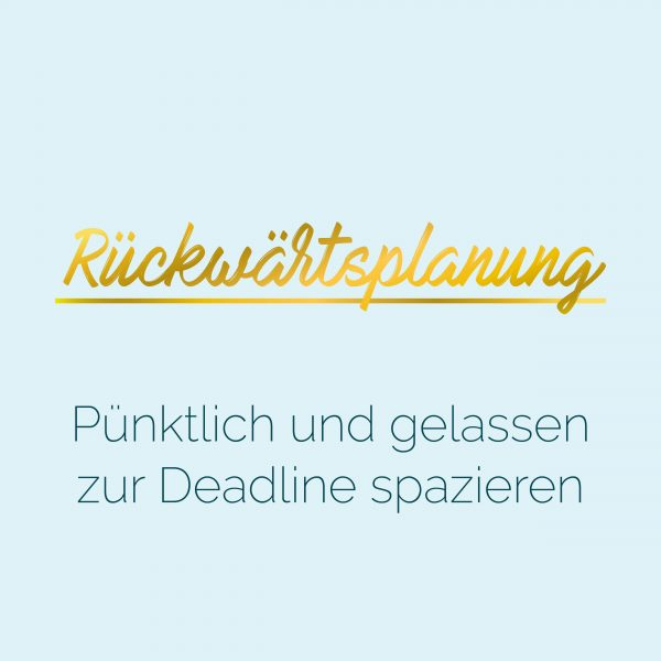 Blauer Eisberg _ Rückwärtsplanung