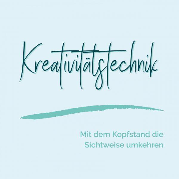blauer Eisberg _ Kreativitätstechnik Kopfstand