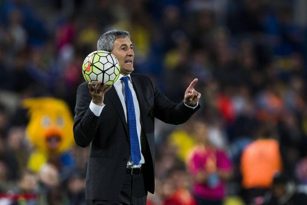 FC Barcelona's new manager, Quique Setién. // GETTY IMAGES