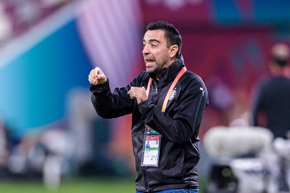 Xavi Hérnandez with Al-Sadd during a game against ES Tunis // MARCIO MACHADO/EURASIA IMAGES/GETTY IMAGES