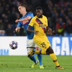 Samuel Umtiti, in UEFA Champions League action, against SSC Napoli / FRANCESCO PECORARO/GETTY IMAGES EUROPE