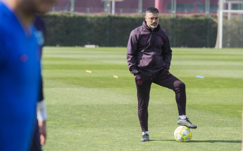 García Pimienta, coach in charge of Barça B team // FCBARCELONA