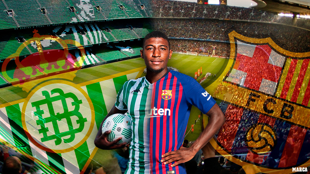 Emerson de Souza was brought to Spain through a shared signing between Real Betis and Barcelona / Photo collage by MARCA