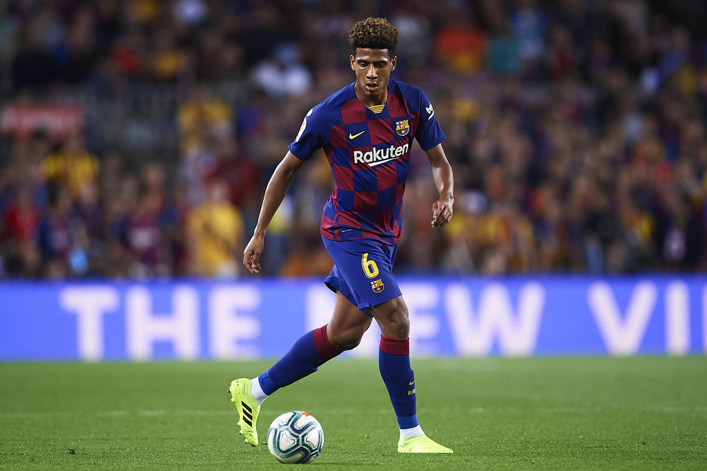 Jean-Clair Todibo during the match against Sevilla FC in LaLiga at the Camp Nou / GETTY IMAGES EUROPE