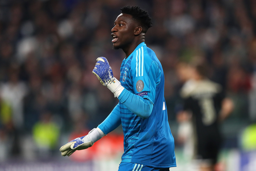 André Onana during the Champions League quarter finals of 2019, against Juventus / GETTY IMAGES EUROPE