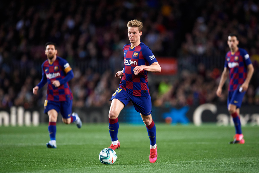 Frenkie de Jong, in action for FC Barcelona / ALEX CAPARROS/GETTY IMAGES EUROPE