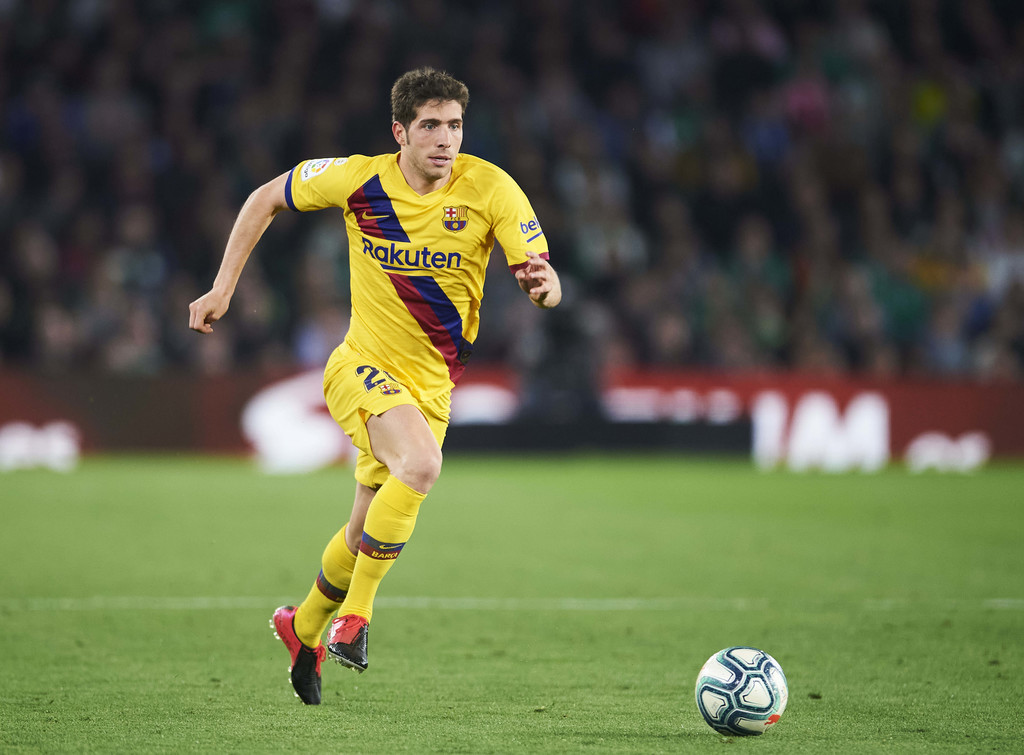 Sergi Roberto, during a performance for Barcelona against Real Betis / GETTY IMAGES EUROPE