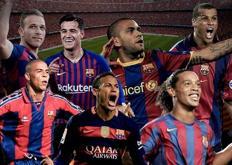 Barcelona's Brazilians over the years / Photo montage by Blaugranagram