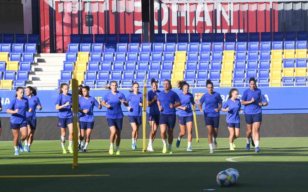 FCB Femení during training at the Estadi Johan Cruyff / PACO LARGO/FCBARCELONA