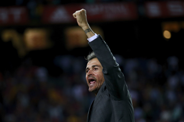 Luis Enrique celebrates while at Barcelona / GONZALO ARROYO MORENO/ GETTY IMAGES EUROPE