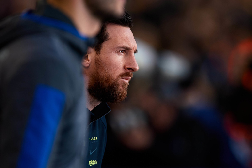 Lionel Messi during LaLiga match against Real Sociedad at Camp Nou / ALEX CAPARROS GETTY IMAGES EUROPE