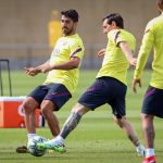 Luis Suárez and Lionel Messi train together / MIGUEL RUIZ/ GETTY IMAGES EUROPE