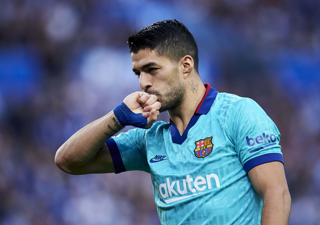 Luis Suárez celebrating a goal against Real Sociedad in LaLiga / JUAN MANUEL SERRANO GETTY IMAGES EUROPE