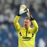 Marc-Andre Ter Stegen prior to the LaLiga match between Real Madrid CF and FC Barcelona / GETTY IMAGES EUROPE