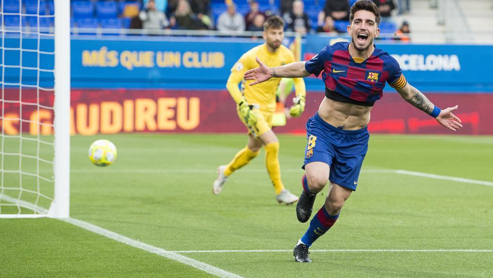 Monchu celebrates for Barcelona / PERE PUNTI - MD