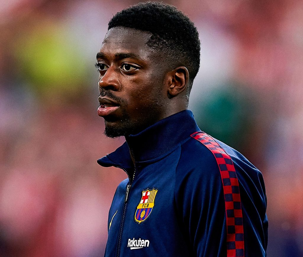 Ousmane Dembélé prior a Barcelona game at Camp Nou / GETTY IMAGES EUROPE