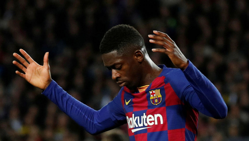 Barcelona's Ousmane Dembélé has attracted interest from Italy / ALBERT GEA/REUTERS