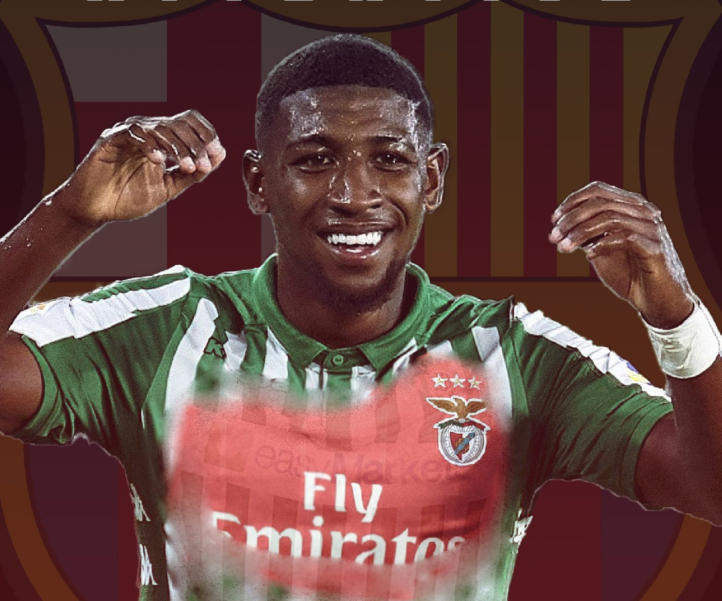 Emerson, co-owned by Barcelona and Betis, has attracted interest from several clubs, including Benfica / Photo montage by Blaugranagram