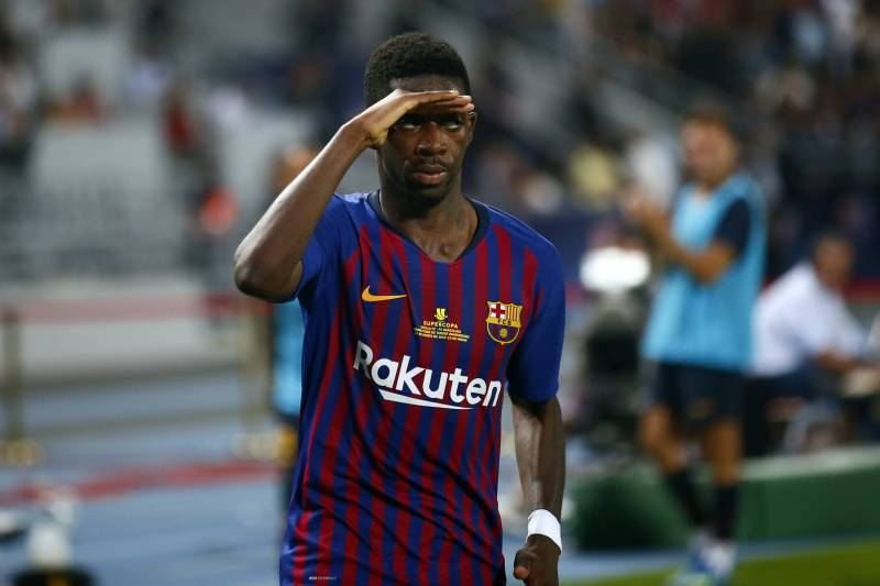 Barcelona's Ousmane Dembélé is on his way back, having been held out by his fifth hamstring injury since he signed with Barcelona / MOSA'AB ELSHAMY/AP