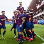 Barça B players celebrating their vital goal against Llagosterra earlier this season in 2B / VÍCTOR SALGADO FC BARCELONA