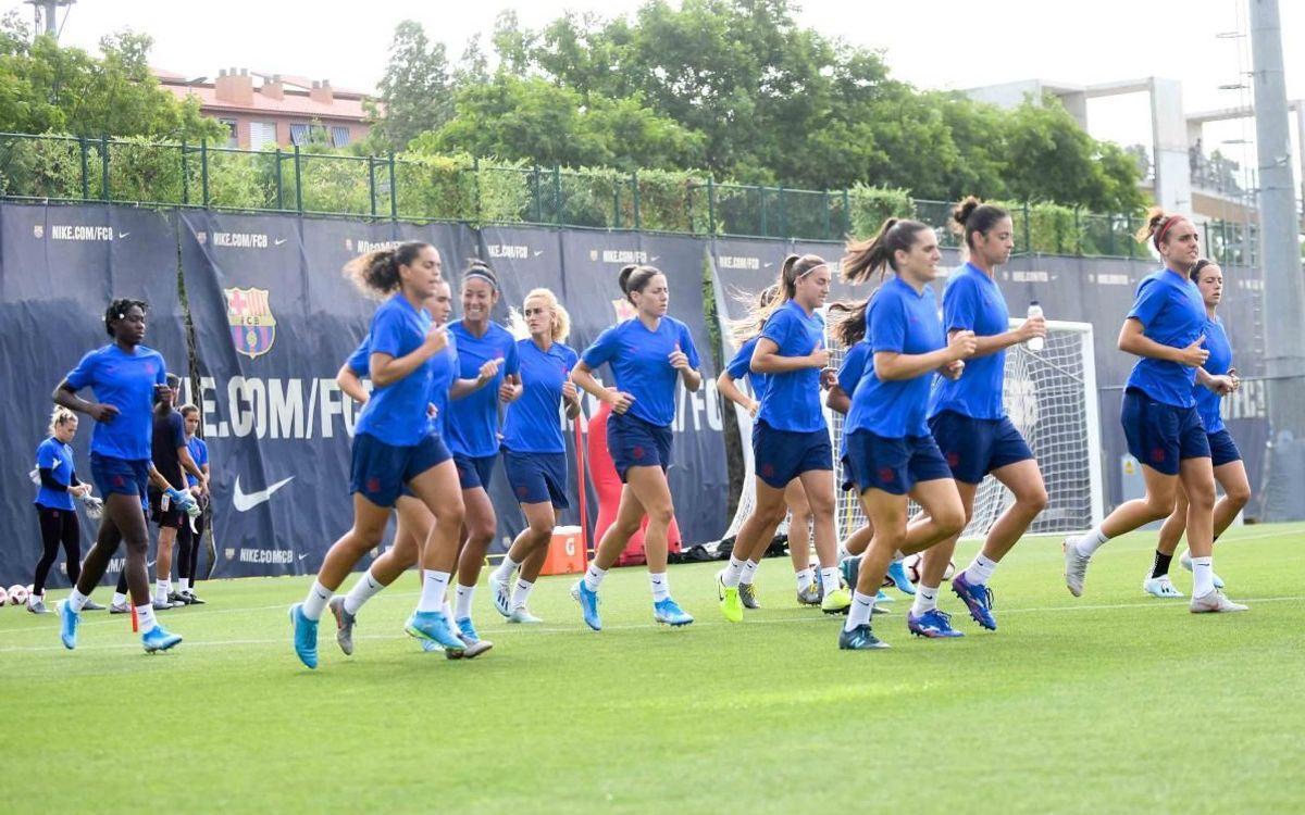 FC Barcelona women's team training at Ciutat Esportiva / PACO LARGO FC BARCELONA