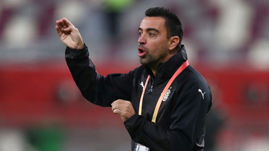 Xavi Hernández durante la semifinal de la Copa Qatar con Al Sadd / REUTERS