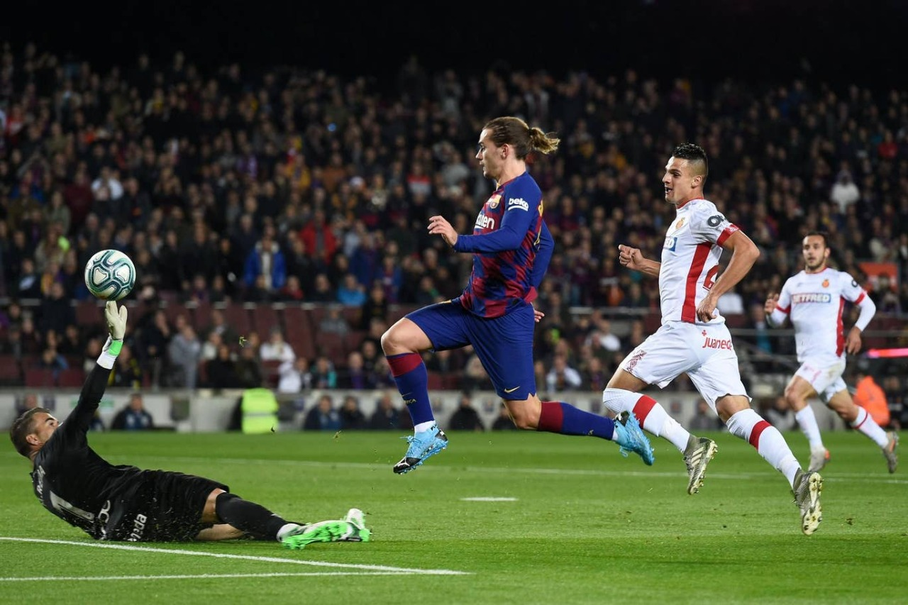 Griezmann in action vs mallorca on 8/12/19 source - Getty images
