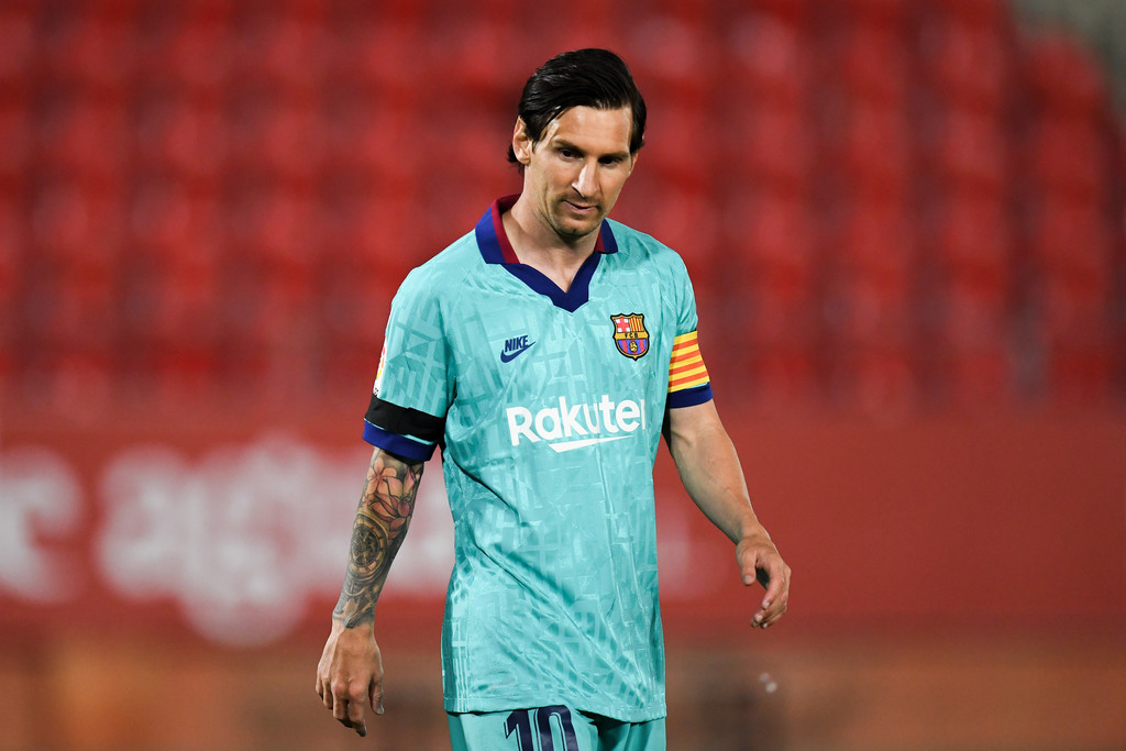 Lionel Messi, in action for Barcelona, against Leganés / GETTY IMAGES EUROPE