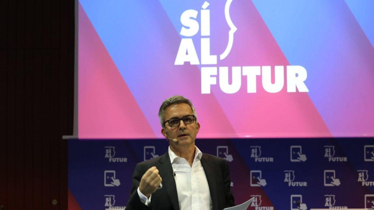 Víctor Font presentando su proyecto 'Sí Al Futut' / LALI ÁLVAREZ/ SÍ AL FUTUR