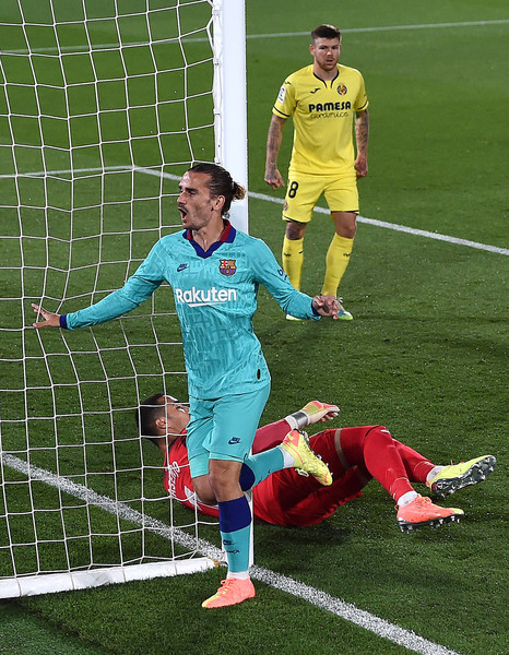 Antoine Griezmann, in action against Villareal CF/ALEX CAPARROS/Getty Images Europe)