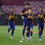 FC Barcelona players warming up before a Laliga fixture / Getty Images Europe