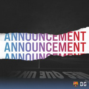 Photo montage for the announcement regarding the collaboration between Blaugranagram and FC Barcelona / BLAUGRANAGRAM