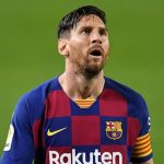 Lionel Messi looks distraught, during a performance for Barcelona in the 2019/20 season/ SKY SPORTS