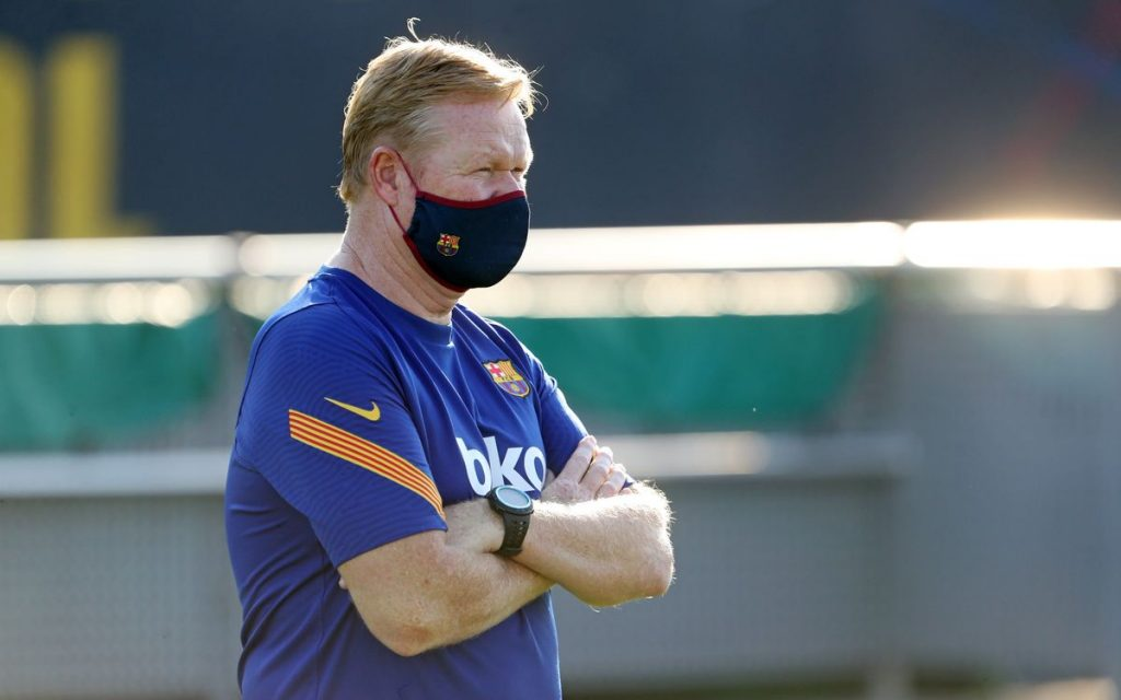 Koeman during training sessions/ FC Barcelona's website