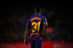 Ansu Fati during FC Barcelona - Levante UD (02-02-2020) / Getty Images Europe