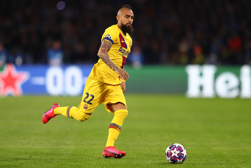 Arturo Vidal, during a Champions League fixture against Napoli / GETTY IMAGES EUROPE