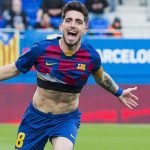 Monchu celebrating a goal for Barcelona B/ PERE PUNTI, MUNDO DEPORTIVO