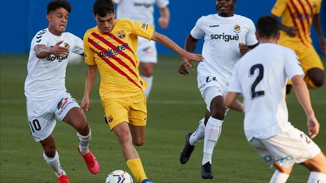 Pedri on his debut with FC Barcelona / EFE