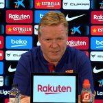 """Koeman: """"Mañana echaremos de menos a toda la afición del Camp Nou"""""""