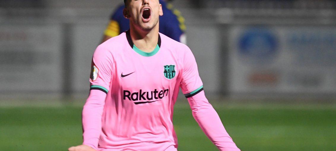 Rey Manaj durante la derrota del domingo. / FCBARCELONA