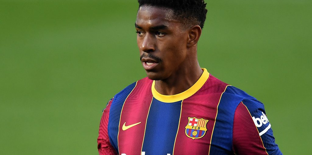 Junior Firpo during Barcelona's encounter with Osasuna in LaLiga Santander / 29/11/2020 / DAVID RAMOS/GETTY IMAGES EUROPE