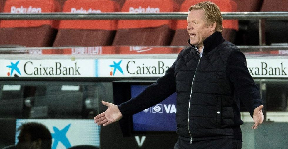 Barcelona head coach Ronald Koeman during Barcelona's encounter with Eibar / 29-12-2020 / ALEJANDRO GARCIA/EFE