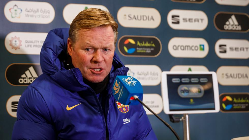 Ronald Koeman, during today's press conference / Getty Images